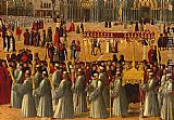 Gentile Bellini - Procession in Piazza S. Marco [detail]